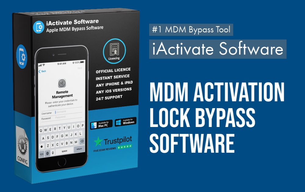 MDM Activation Lock BYPASS SOFTWARE iActivate