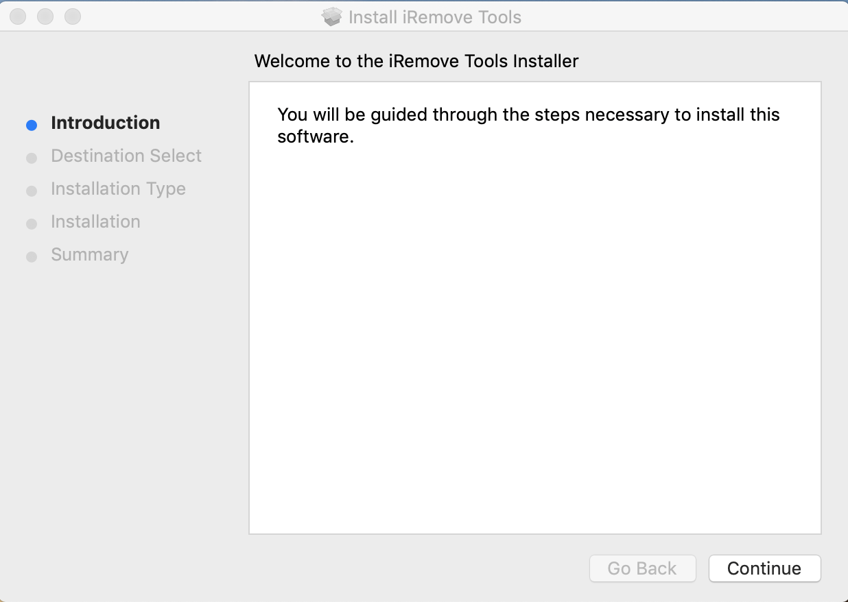How to install iRemove Software step 1