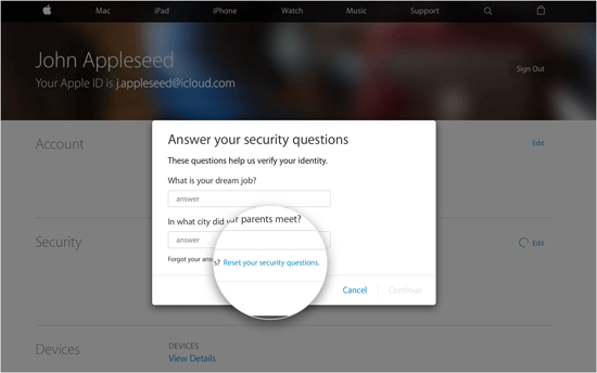 How to reset Apple ID security questions and answers