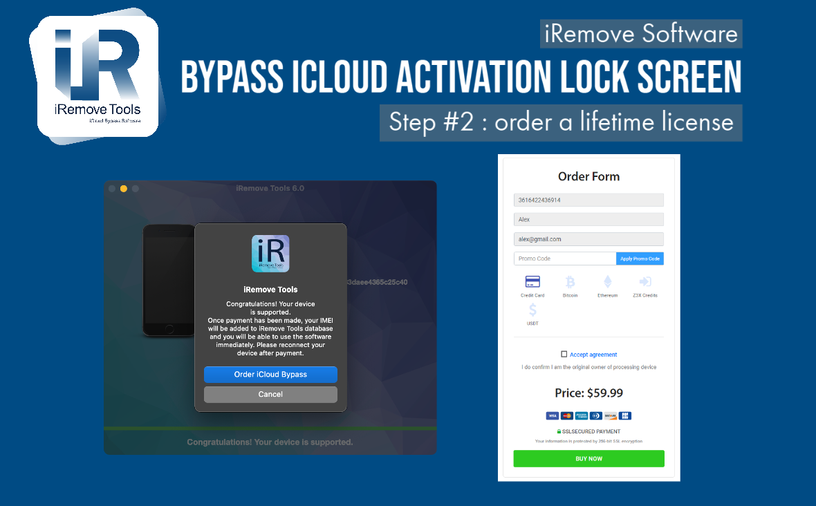 Bypass iCloud Activation Lock Order Placement