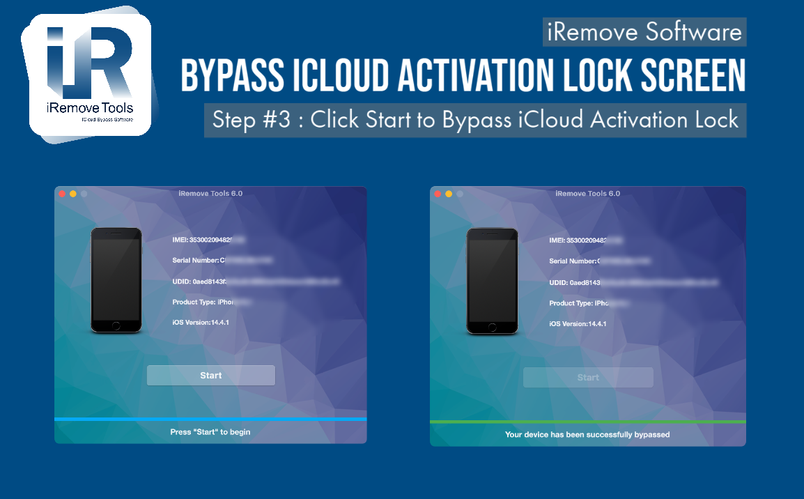 Remove Activation Lock via iRemove Tool