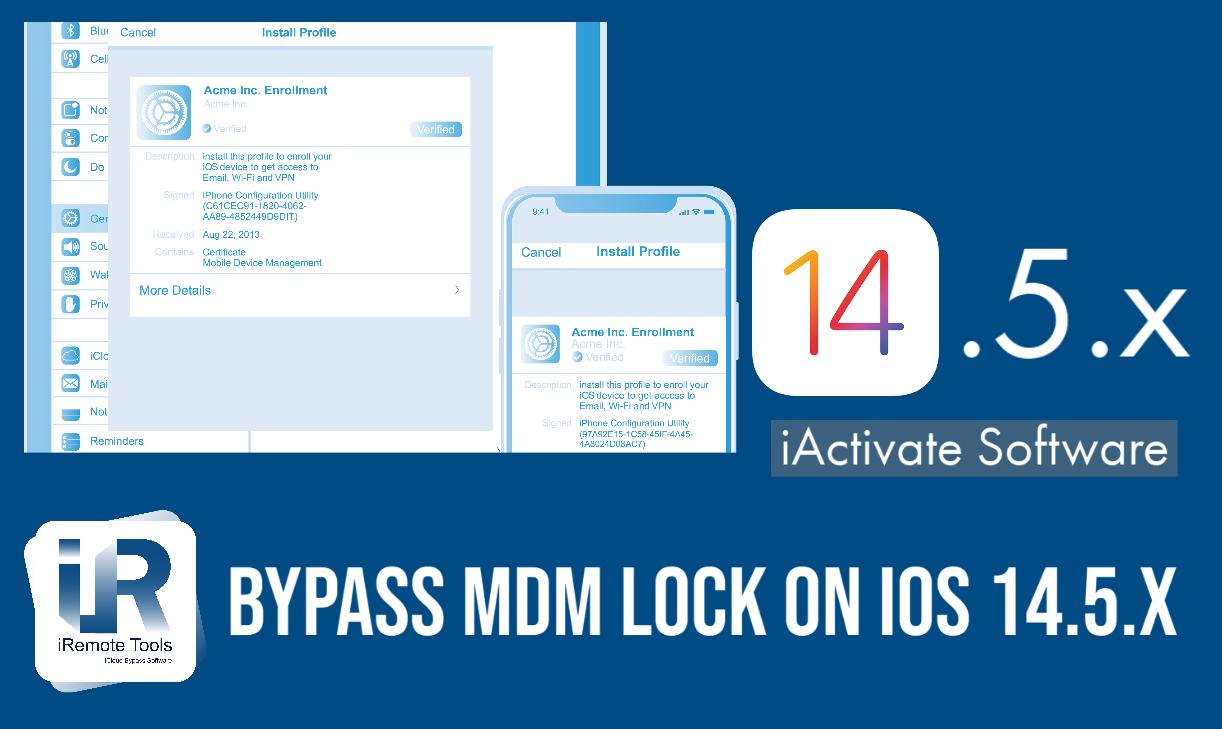 MDM Activation Lock Bypass on iOS 14.5 & iOS 14.5.1