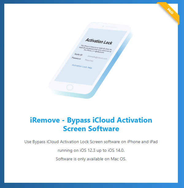 iRemove Software: iOS 14 Activation Bypass