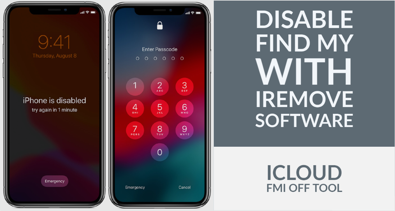 Disable Find My and Unlock passcode disabled iPhone or iPad