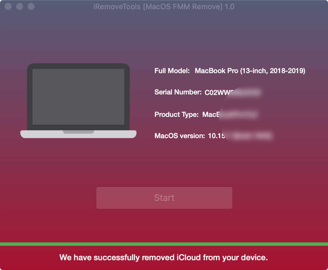 Start Unlock Find My Mac Step 3