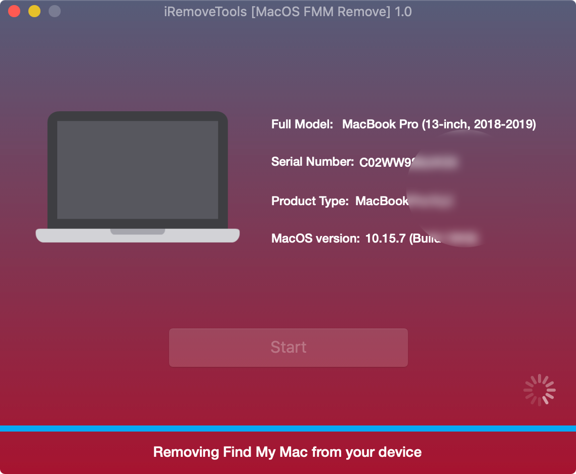 Start Unlock Find My Mac Step 2