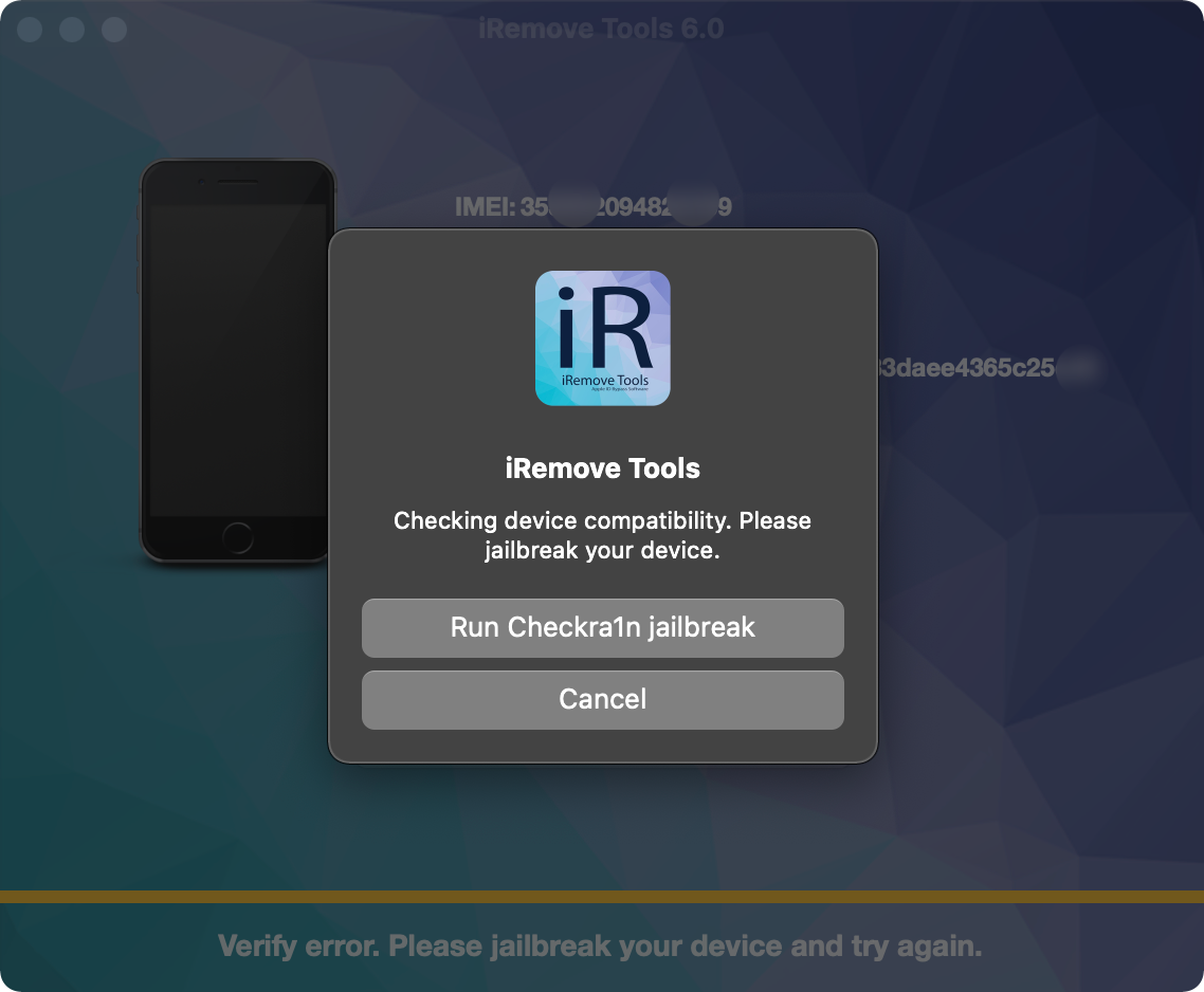 run Checkra1n Jailbreak