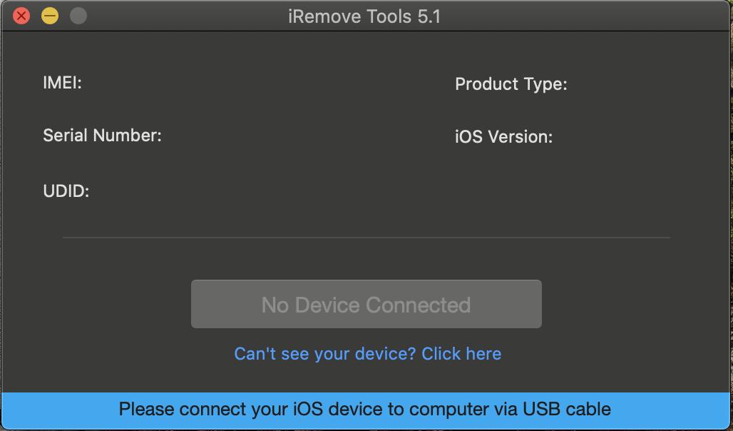 Run iRemove Software