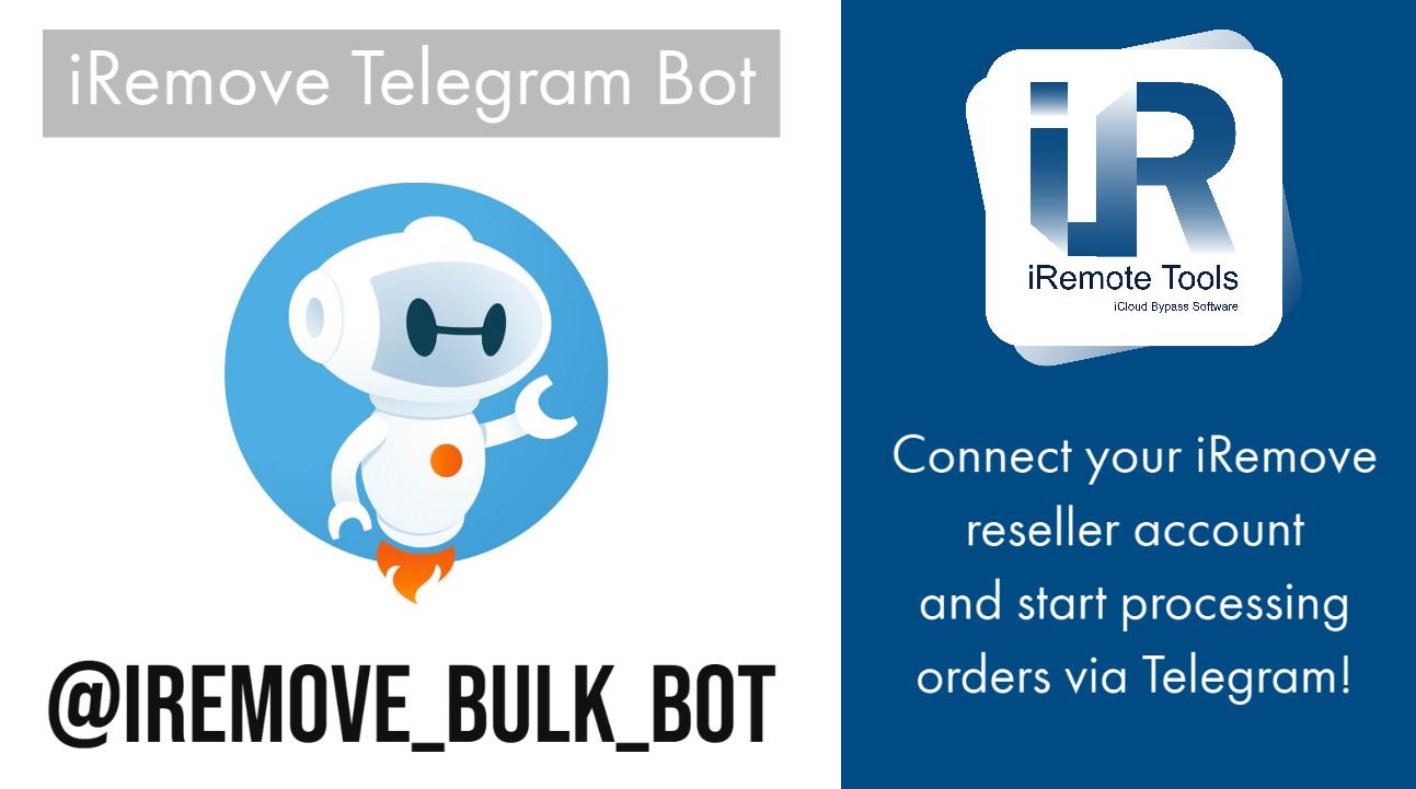 iRemove Telegram Bot - iCloud Bypass Software