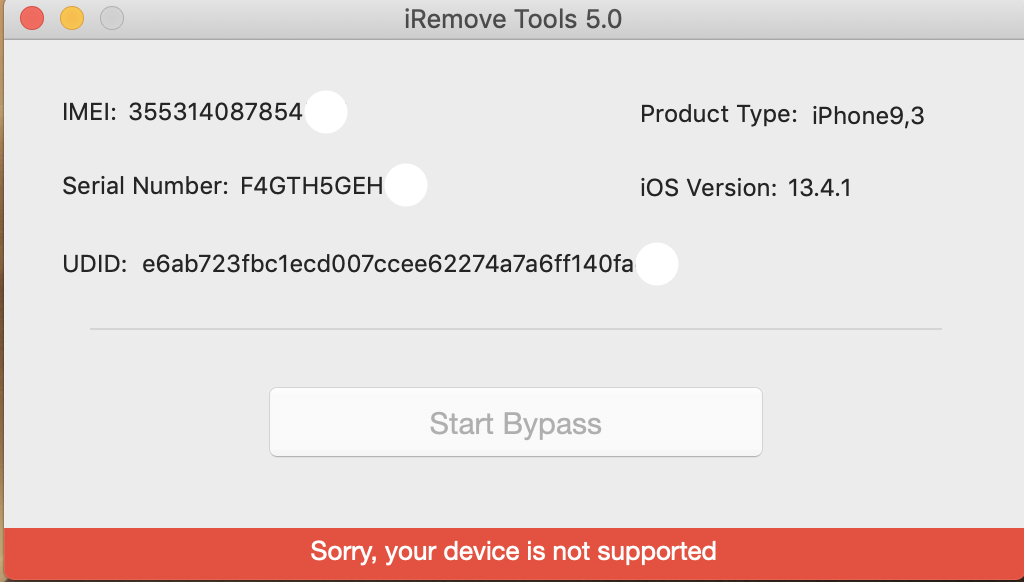 iRemove your device is not supported