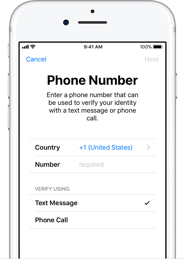 How to setup two-factor authentication on iOS