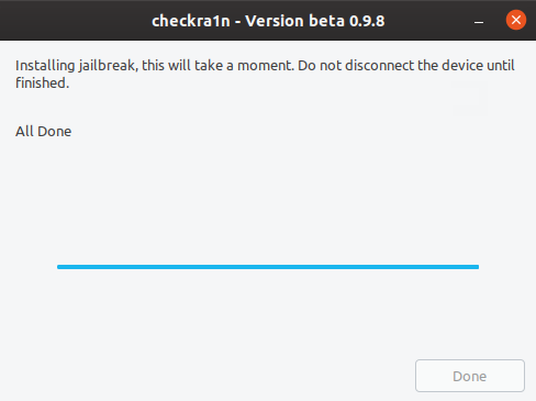 Checkra1n - jailbreak iOS step 3